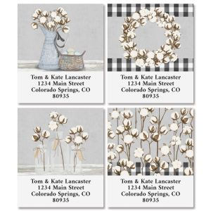 Farmhouse Bolls Select Return Address Labels (4 Designs)