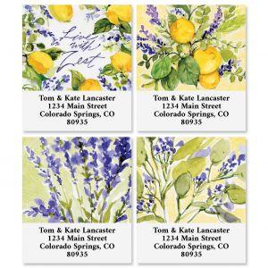 Watercolor Lemon Select Return Address Labels (4 Designs)