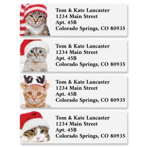 Cats in Hats Classic Return Address Labels (4 Designs)