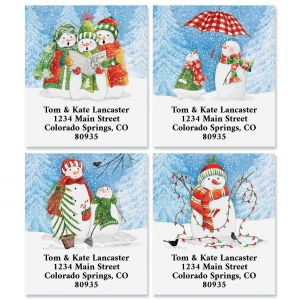 Snow Friends Select Return Address Labels (4 Designs)