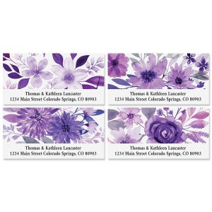 Amethyst Floral Deluxe Return Address Labels (4 Designs)