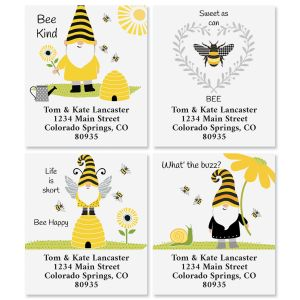 Save The Gnomes Select Return Address Labels (4 Designs)