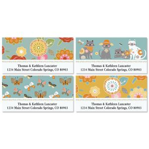 Cat Patch Deluxe Return Address Labels (4 Designs)
