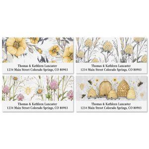 Sweet Bee Deluxe Return Address Labels (4 Designs)