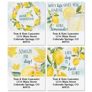 Squeeze The Day Select Return Address Labels (4 Designs)