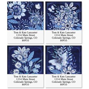 Blooming Blue Select Return Address Labels (4 Designs)
