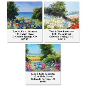 Fields Of Flowers Select Return Address Labels (3 Designs)