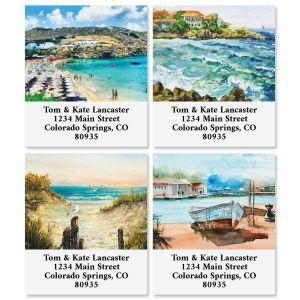 Seaside Scenes Select Return Address Labels (4 Designs)