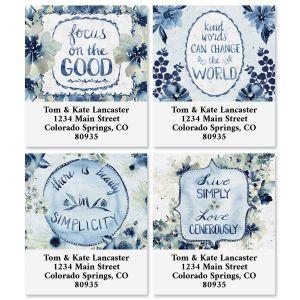 Garden Blues Select Return Address Labels (4 Designs)
