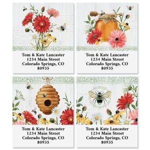 Summer Floral Buzz Select Return Address Labels (4 Designs)