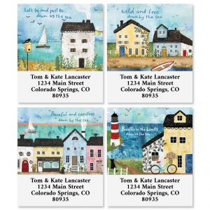 Down By the Sea Select Return Address Labels (4 Designs)