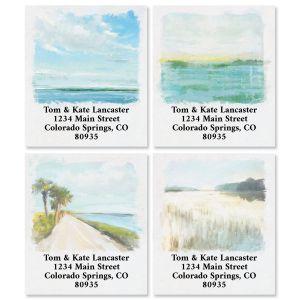 Coastal Gallery Select Return Address Labels (4 Designs)