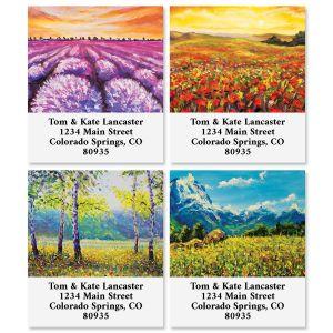 Quiet Surroundings Select Return Address Labels (4 Designs)
