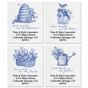 Blue Chinoiserie Select Return Address Labels (4 Designs)