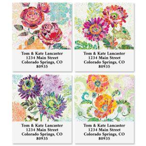 Paper Flowers Select Return Address Labels (4 Designs)