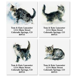 Tabby Portrait Select Return Address Labels (4 Designs)
