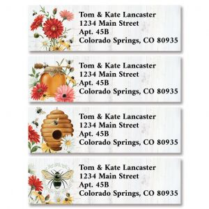 Summer Floral Buzz Classic Return Address Labels (4 Designs)