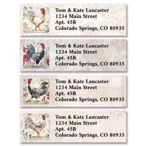Proud Rooster Classic Return Address Labels (4 Designs)