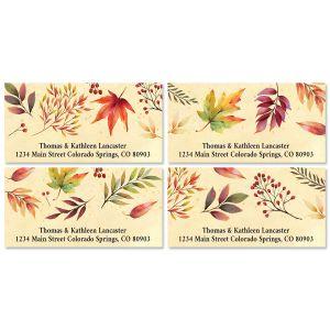 Autumn Flourish Deluxe Return Address Labels (4 Designs)
