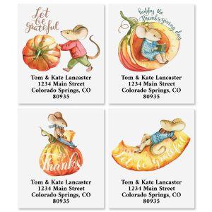 Thankful Mouse Select Return Address Labels (4 Designs)