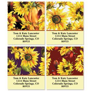 Festive Sunflowers Select Return Address Labels (4 Designs)