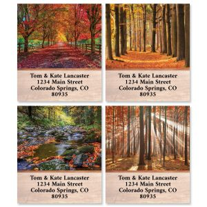 Autumn Brilliance Select Return Address Labels (4 Designs)