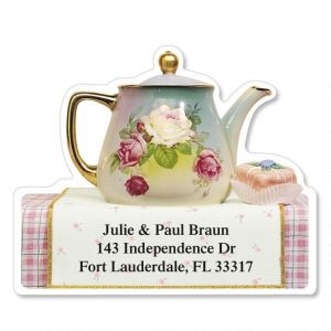 Teapots Diecut Address Labels   (6 Designs)