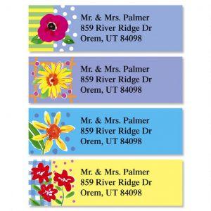 Painted Petals Classic Address Labels  (4 Designs)