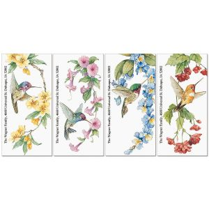 Hummingbird Haven  Oversized Return Address Labels  (4 Designs)