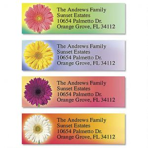 Illuminated Petals Classic Address Labels  (4 Designs)