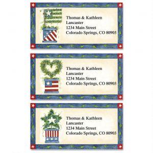 Star Spangled Ivy Border Address Labels   (3 Designs)