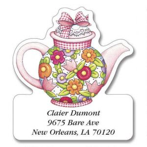 Teatime with Mary  Diecut Address Labels  (6 Designs)
