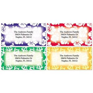 Aloha Border Return Address Labels  (4 Designs)