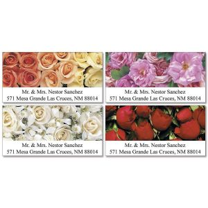 Bed of Roses  Deluxe Address Labels   (4 Designs)