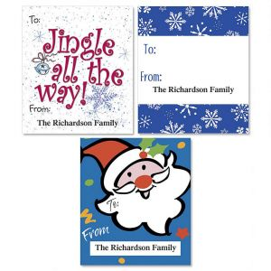 Holiday Whimsey To/From Labels  (3 Designs)