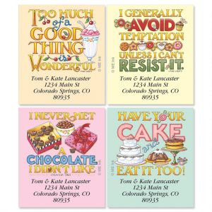 Mary's Decadence Select Address Labels  (4 Designs)