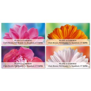 Floral Passion Deluxe Address Labels  (4 Designs)