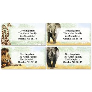 Trip to Africa Border Address Labels   (4 Designs)