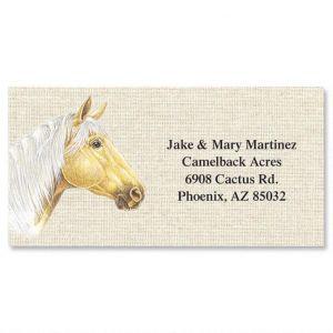 Happy Horses Border Address Labels  (6 Designs)