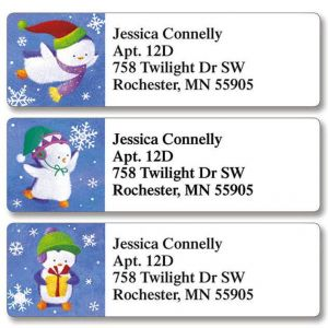 Christmas Penguins Classic Address Labels  (3 Designs)