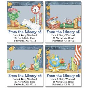 School Is Cool Bookplates   (4 Designs)