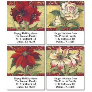 Poinsettia  Select Address Labels   (4 Designs)