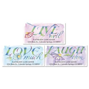 Live, Love, Laugh Deluxe Return Address Labels  (3 Designs)