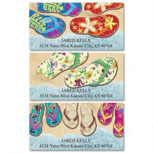 Baja Flip-Flops Deluxe Address Labels  (3 Designs)