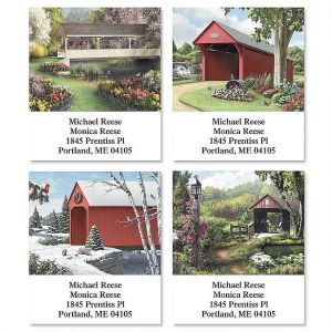 Covered Bridges Select Address Labels   (4 Designs)