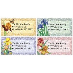 Iris  Border Address Labels  (4 Designs)