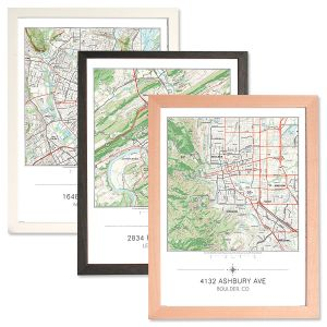 Custom My Home Matted and Framed Map Print