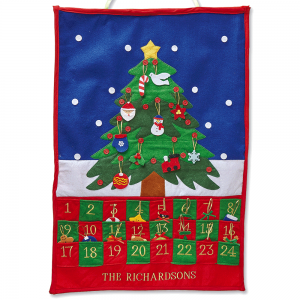Custom Christmas Tree Countdown Calendar