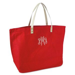 Road Warrior Personalized Jute Red Tote