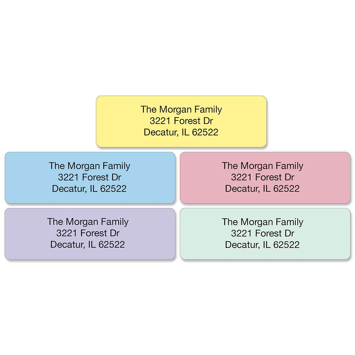 Pastel with Initial Standard Rolled Address Labels